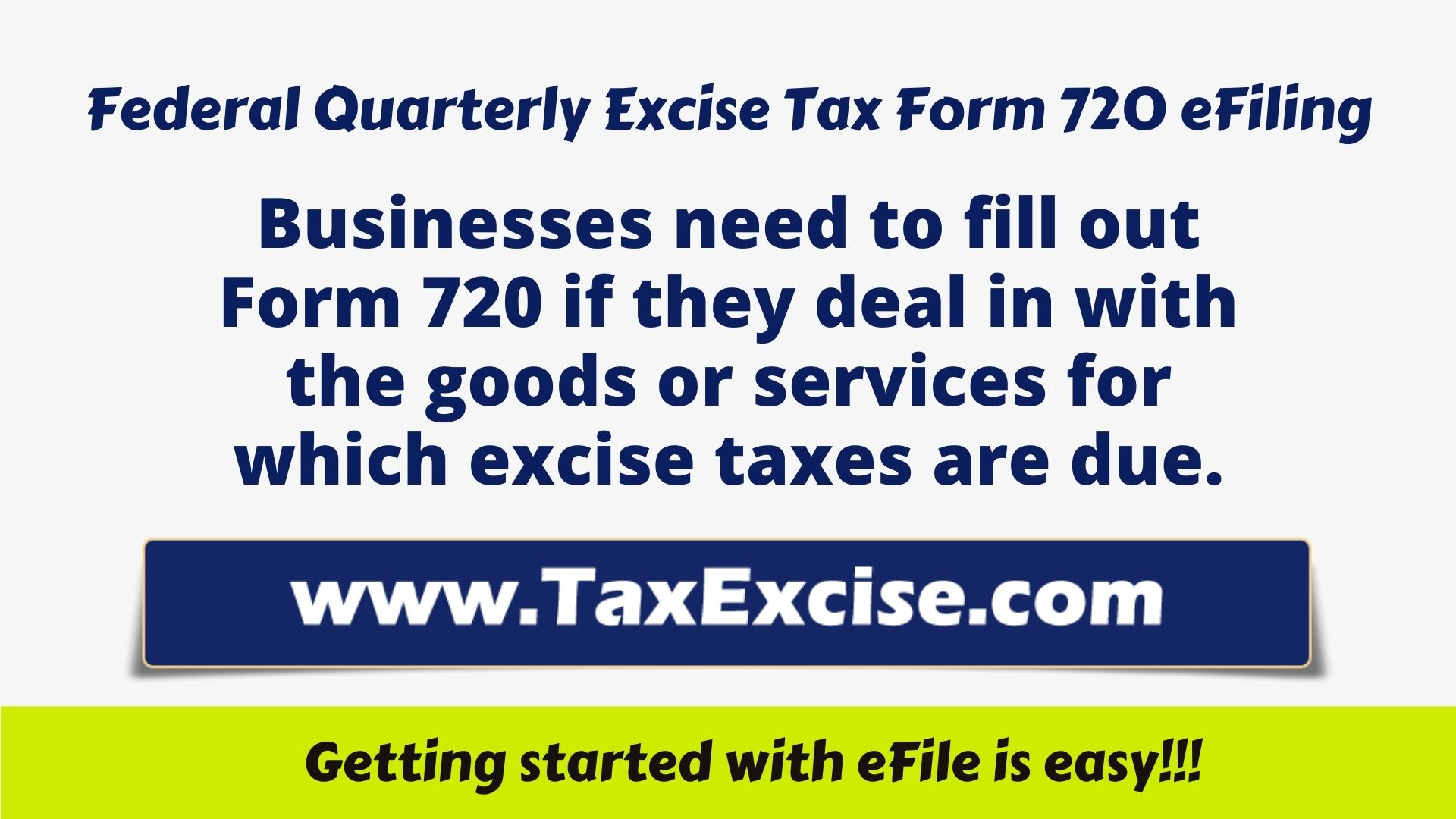 Federal Quarterly Excise Tax eFiling